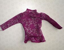 Genuine Barbie Doll Clothes - Purple Long Sleeve Top with Star Motif