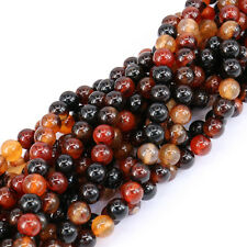 "15"" Strands Nature Agate Round Gemstone Loose Spacer Beads Stone Jewelry Making"