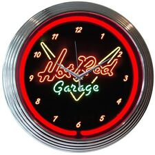 Hot Rod Garage Neon Clock 8HOTRD w/FREE Shipping