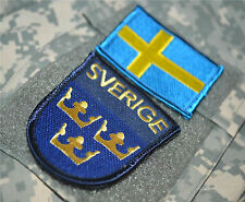 AFG-PAK JSOC NATO ALLIED COALITION OPERATOR hook/loop 2-FLAG: SVERIGE SWEDEN 瑞典