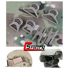 Emerson Tactical Helmet Goggle Swivel Clips Accessory for Fast Helmets Rail Tan