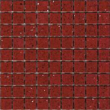 SAMPLE of Red Ruby Starlight Stardust Quartz Mosaics Sheet Tile Splashback