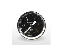 "Marshall Gauge 0-15 Psi Fuel / Oil Pressure Gauge Black 1.5"" Diameter 1/8"" NPT"