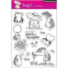 New Penny Black RUBBER STAMP clear Acrylic HUGS set free usa ship