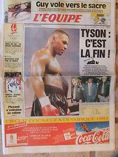 L'Equipe du 12/2/1992 - J.O Albertville : Guy - Restzova - Piccard- Tyson la fin