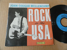 "DISQUE 45T DE JOHN COUGAR MELLENCAMP "" ROCK IN THE USA """
