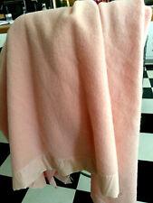 """Vintage North Star Pure WOOL/pink Blanket 88"""" x 73"""" VGC"""