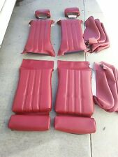 BMW E28 528I 535I SPORT SEAT KIT CLASSIC RED GERMAN VINYL UPHOLSTERY KITS  NEW