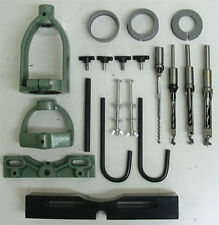 Mortising Attachment Kit Drill Press Tenon Joint 4 Bits & 3 Collet Sizes