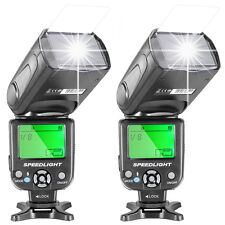 Neewer 2pcs NW-561 Speedlite Flash w/ LCD Display for Canon EOS 1100D 550D Nikon