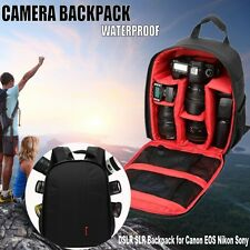 Waterproof SLR DSLR Camera Bag Rucksack Case Backpack For Canon EOS Sony Nikon