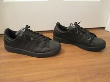 Used Worn Size 13 Adidas Superstar Shoes Black With White