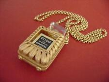 AUTH chanel coco Perfume W/ case Long Chain Necklace