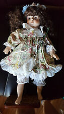"Vintage ""Danielle"" Doll With Stand ~ Brinn Collectible Porcelain Edit ~ 18"" Tall"