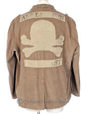 Affliction Corduroy Jacket Size XXL 52 / 54 Live Fast Beige 2 Button Coat Skull