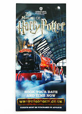 THE MAKING OF HARRY POTTER WARNER BROS STUDIO TOUR LONDON LEAFLET FLYER NEW 2015
