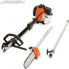 Long Reach Petrol Pole Pruner 3m Long Chainsaw Tree Trimmer Branch Garden Tool