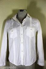 Louis Vuitton White Longsleeve Cotton Blouse Top Shirt sz. 40 4 5 6