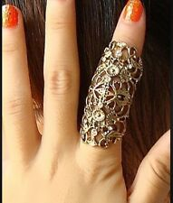 SILVER MIDI Knuckle Ring Armour Anello Dito COMPLETA Anello Diamante