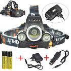Boruit RJ-5000 9000lm XM-L T6+2R2 3xLED Headlamp Head Light 2x18650 Rechargeable