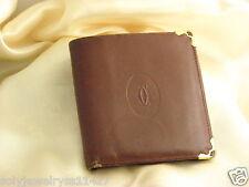 Must De Cartier Burgundy Wallet For Men