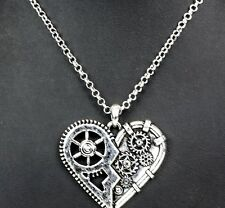 Heart  Steampunk Gear Metal Pendant Punk Goth Club Rockabilly Death Metal