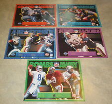 Lot of 5 NFL - 1992 Football POSTERS - Passers - Rushers - Receivers - Sackers