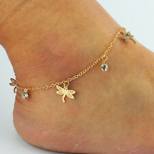 Special Gold Chain Ankle Anklet Bracelet Barefoot Sandal Beach Feet Jewelry   X