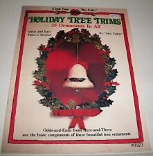 VINTAGE HOLIDAY TREE TRIMS ORNAMENTS HOW TO MAKE THEM BOOK SOFTCOVER 1980 #7377