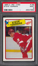 1988 OPC O PEE CHEE #196 STEVE YZERMAN PSA 9 MINT DETROIT RED WINGS HOCKEY card