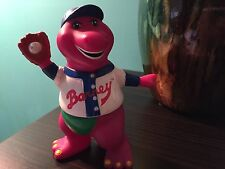 "5"" TALL BARNEY THE DINOSAUR  FIGURE BASESALL OUTFIT CAKE TOPPER DECORATION PLAY"