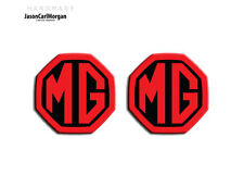 MG ZS ZR MGF Badge Inserts Front Grill Rear Boot MG Logo Badges 59mm Black Red