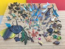 Rubber Sea Creatures Animals Figure Mixed  Lot 103 PC Safari Whales Sharks Skate