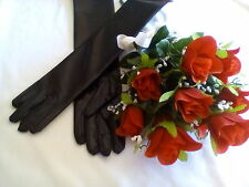 """Very Sexy """"Wet Look"""" Long Gloves! Weddings! Formal! Costumes! One Size! Black!"""