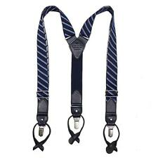 NEW MEN'S TOMMY HILFIGER VINTAGE LOOK CONVERTIBLE SUSPENDERS NAVY 21TL61X018