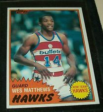 "1981/82 TOPPS WES MATTHEWS R/C BASKETBALL CARD ""NR-MINT"" #69 EAST ""VINTAGE"""