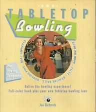 Tabletop Bowling by Jon Richards (2005, Full Color Book & Tabletop Bowling Lane)