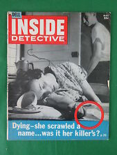 Vintage INSIDE DETECTIVE May 1958  The Coat Hanger Garrote