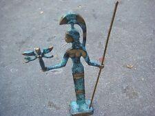 """beautiful brass greek warrior woman sculpture ~ 10"""" aohna"""