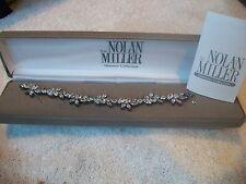 NOLAN MILLER Signed Bracelet Elegance & GLAMOUR Gunmetal & Austrian Crystal