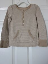 **Baby Gap Girls' 100% Cotton Long Sleeve Striped Tee  Size 4 T
