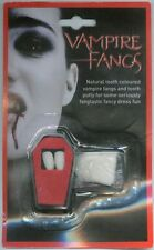 VAMPIRE FANG COFIN TEETH WITH PUTTY FOR HALLOWEEN FANCY DRESS