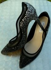 LK BENNETT FAYE Crystal Embellished Black Court Pump size 8 EU 41 New RRP £395