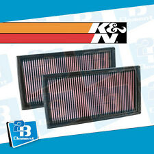 K&N Drop In Air Filter PAIR Fit For 2007 - 2014 Mercedes Benz AMG C63 V8