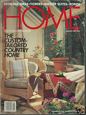 Home Magazine January 1988 The Custom Tailored Country Home Ponds Storage Ideas