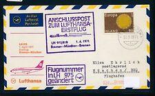95571) LH FF Bremen - München 1.4.71, SoU ab Island CEPT