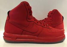 NIKE LUNAR FORCE 1 HI UNIV. RED ICE SOLE 705436-600 Red October Size 10