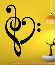 Music Wall Decal Vinyl Sticker Music Notes Treble Clef Interior Art Decor (19mu)