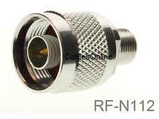 F-Type Female to N-Type Male Antenna RF Adapter, CablesOnline RF-N112