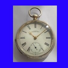 Substantial Mint Silver Waltham KW Patent Pocket Watch 1895